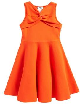 Milly Minis Twist Fit & Flare Dress