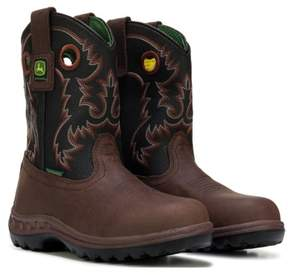 John Deere Kids' Johnny Popper Waterproof Cowboy Boot Grade School