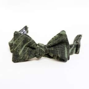 Blade + Blue Olive Green Botanical Print Bow Tie