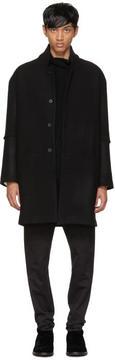 Isabel Benenato Black Oversized Wool Coat