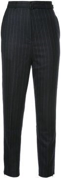CITYSHOP pinstripe belted trousers