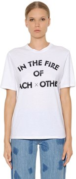Each X Other In The Fire Cotton Jersey T-Shirt