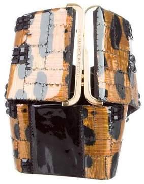 Oscar de la Renta Embellished Wide Waist Belt