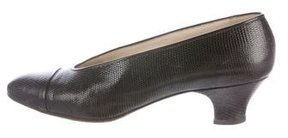 Chanel Lizard Cap-Toe Pumps