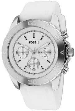 Fossil BQ1179 Men's Classic White Silicone Watch with Chronograph