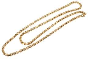 Tiffany & Co. 18K Yellow Gold Square Box Link Chain Necklace