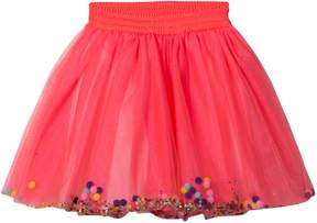 Billieblush Fuchisa Pom Pom Glitter Tutu Skirt