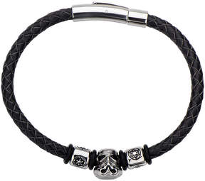 Star Wars FINE JEWELRY Stainless Steel and Leather Stormtrooper Bracelet