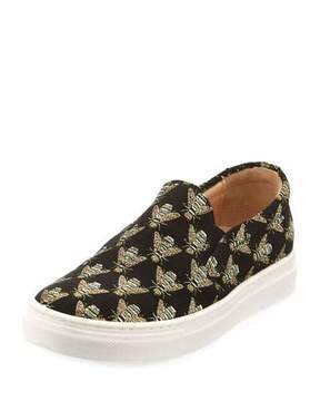 Aquazzura Cosmic Slip-On Bee Sneaker, Toddler/Youth Sizes 11T-2Y