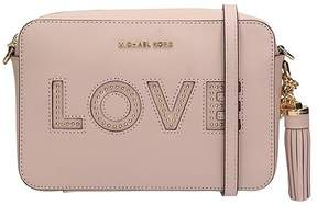 Michael Kors Crossbody Bag In Pink Leather - ROSE-PINK - STYLE