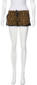 Barbara Bui Leather-Accented Patterned Shorts