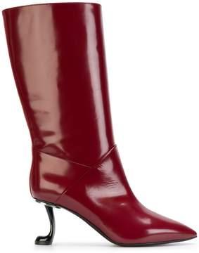 Marni sculptural calf boots