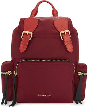 Burberry Medium nylon backpack - CRIMSON RED - STYLE