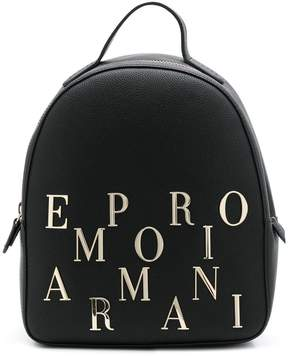 Emporio Armani logo embellished backpack