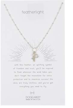 Dogeared Sterling Silver Featherlight Cluster Charm Necklace