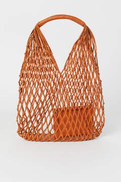 H&M Leather Net Bag - Orange