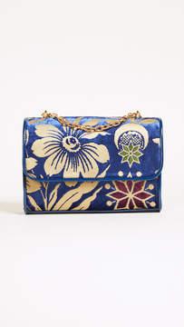 Tory Burch Fleming Printed Velvet Small Shoulder Bag