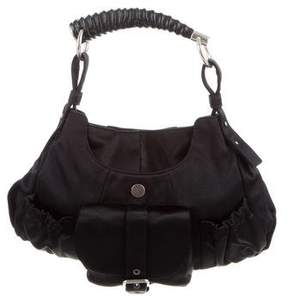 Saint Laurent Satin Mombasa Bag - BLACK - STYLE