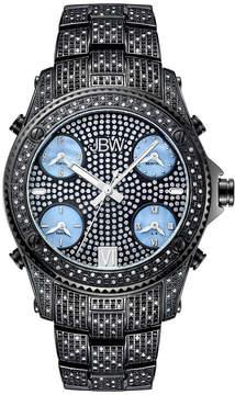 JBW Jet Setter Mens 3 CT. T.W. Diamond Black Stainless Steel Watch JB-6213-B