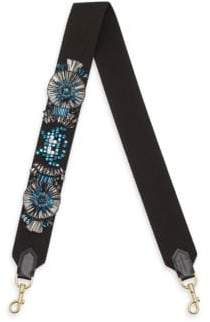 Anya Hindmarch Embroidered Leather Guitar Shoulder Strap