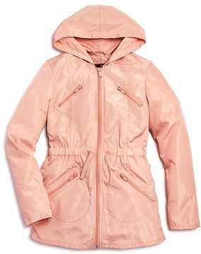 Aqua Girls' Ruffled Rain Jacket, Big Kid - 100% Exclusive