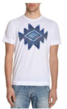 H953 Men's White Cotton T-shirt.