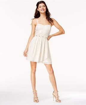 BCX Juniors' Embellished Lace Fit & Flare Dress