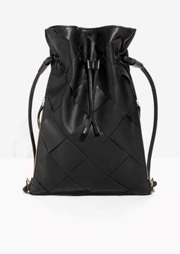 Braided Leather Backpack