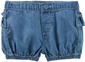 Osh Kosh Oshkosh Bgosh Baby Girl Ruffled Chambray Bubble Shorts