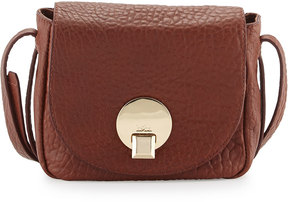 Kooba Claude Small Saddle Bag, Brown Metallic