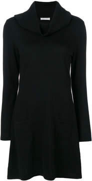 Le Tricot Perugia oversized roll neck sweater dress