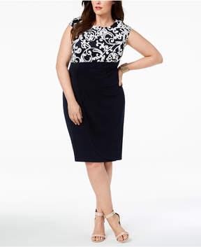 Connected Plus Size Soutache Dress