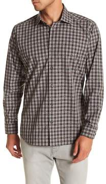 Jared Lang Gingham Patterned Woven Shirt