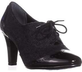 Giani Bernini Gb35 Vickii Oxford Lace-up Booties, Black/grey.