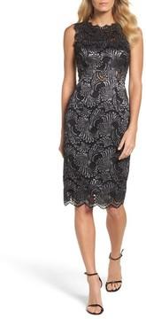 Adrianna Papell Women's Two-Tone Lace Sheath Dress