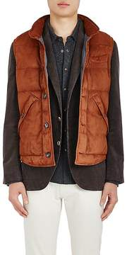 Brunello Cucinelli Men's Suede Puffer Vest