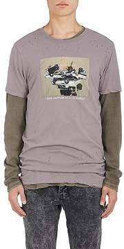 Ksubi Men's Car-Print Distressed Cotton T-Shirt