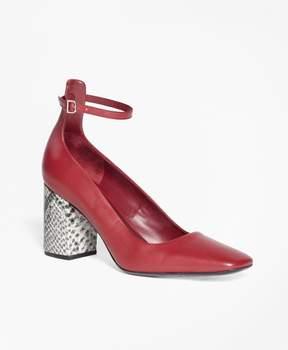 Brooks Brothers Square-Toe Block Heels