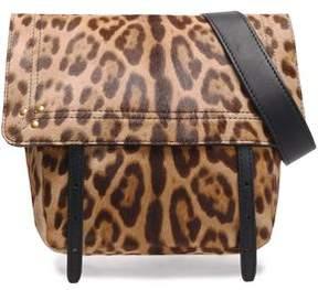 Jerome Dreyfuss Leopard-Print Calf Hair Shoulder Bag