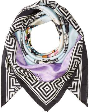 Versace Roman Mask Print Scarf Scarves