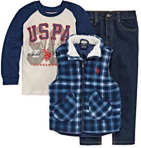 U.S. Polo Assn. 3-pc. Pant Set Boys