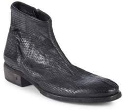 John Varvatos Keith Textured Leather Boots