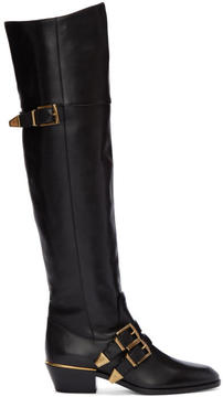 Chloé Black Over-The-Knee Susan Boots