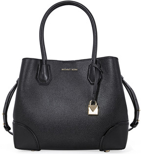 Michael Kors Mercer Medium Leather Satchel - Black - ONE COLOR - STYLE