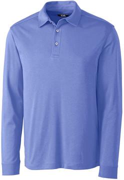 Cutter & Buck Light Blue Pima Belfair Long-Sleeve Polo - Men