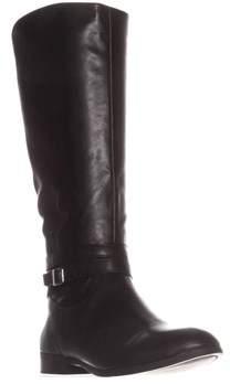 Style&Co. Sc35 Keppur Flat Riding Boots, Black.