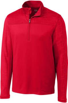 Cutter & Buck Red Zip-Front Pullover - Men