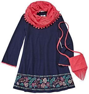 Knitworks Knit Works Long Sleeve Shift Dress - Preschool Girls