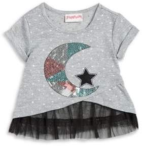 Flapdoodles Little Girl's Moon and Star Dress