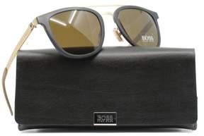 HUGO BOSS BOSS by Men's B0838s Square Sunglasses, Black Gold/Brown, 52 mm